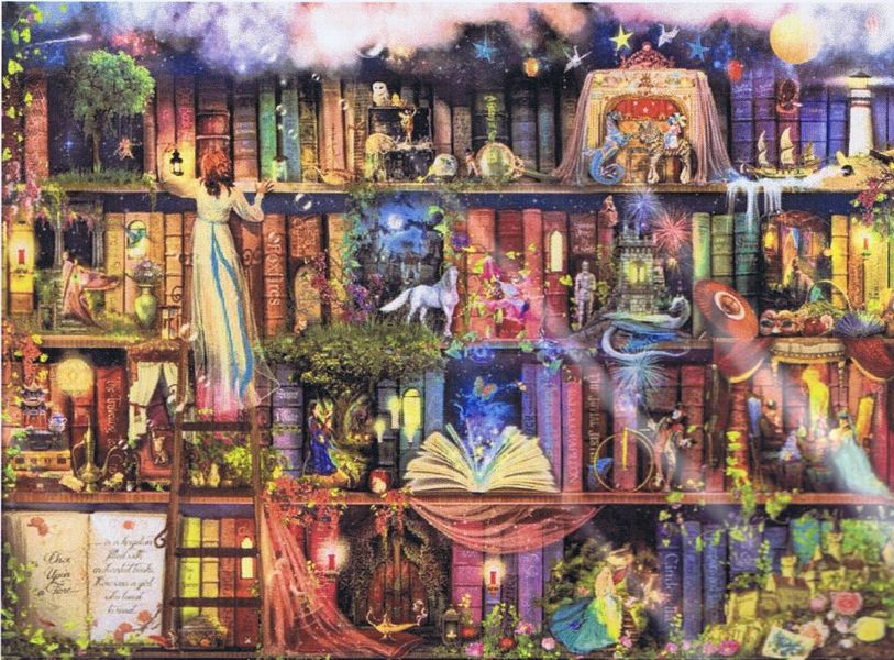 Treasure Hunt Bookshelf Cross Stitch Pattern By Heaven