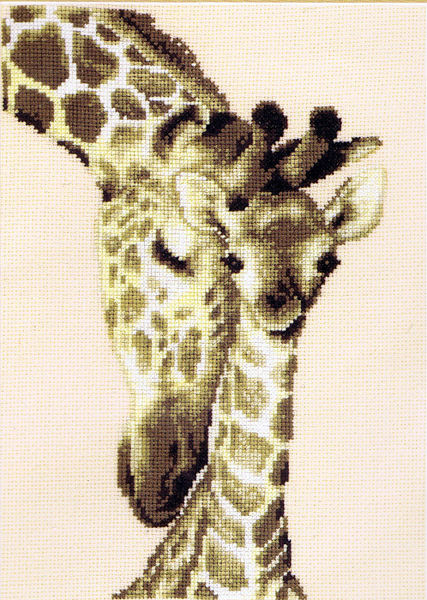 Giraffe Family Cross Stitch Kit By Vervaco