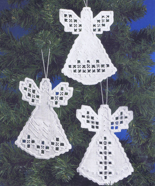 Large White Christmas Ornaments