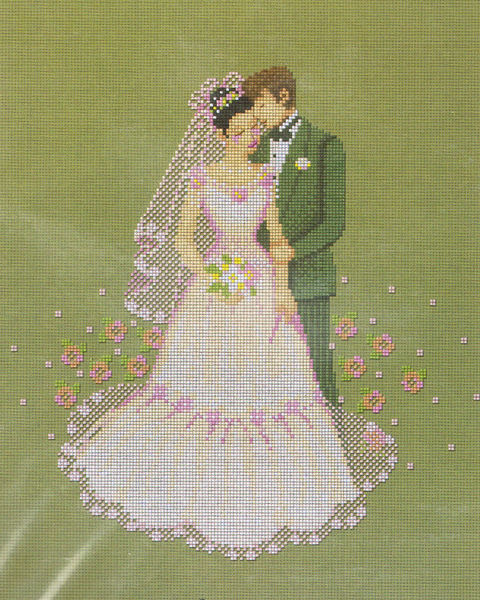 The Bride And Groom Cross Stitch Kit By Pinn Stitch