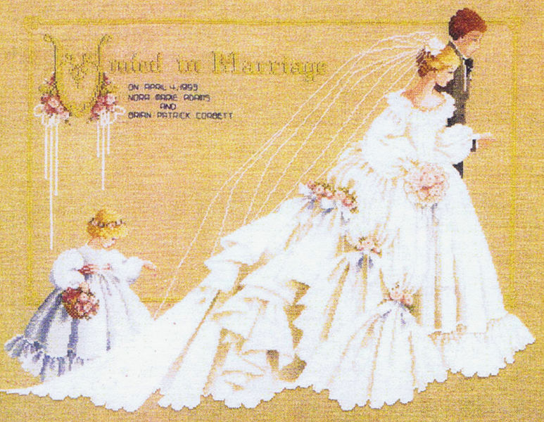 The Wedding Cross Stitch Pattern By Lavender Amp Lace