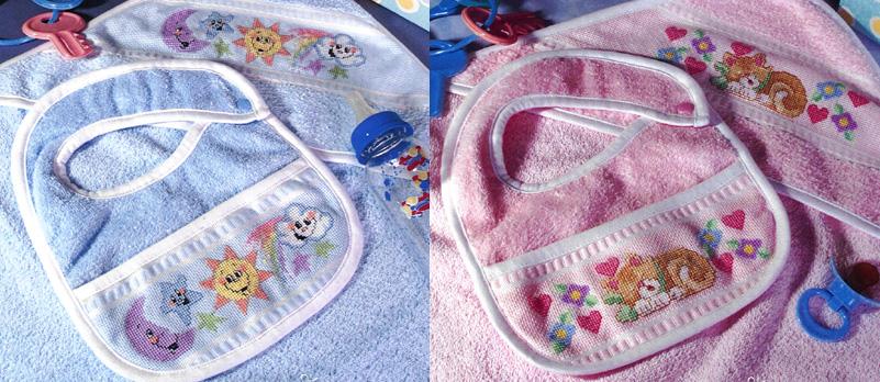 Baby Girl Bibs Cross Stitch Pattern By Stoney Creek