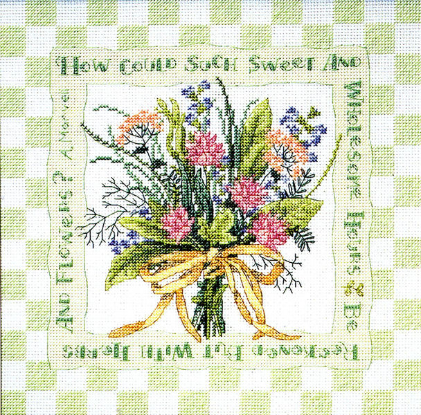 Herb Bouquet Cross Stitch Pattern By Dimensions
