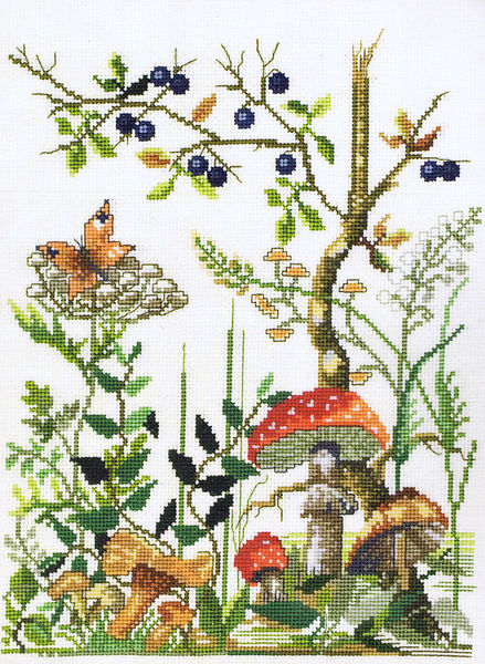 Forest Floor Cross Stitch Kit By Permin Of Copenhagen