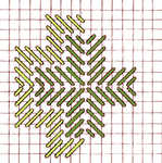 Border Satin Cross stitch - click to enlarge