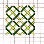 Crossed Corners stitch - click to enlarge