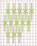 Crossed Gobelin stitch - click to enlarge