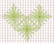 Diamond Eyelet stitch - click to enlarge