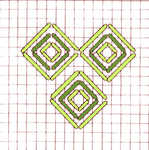 Diamond Lattice stitch - click to enlarge