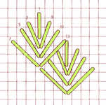 Diamond Leaf stitch - click to enlarge