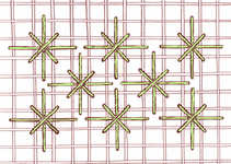 Double Straight Cross stitch - click to enlarge