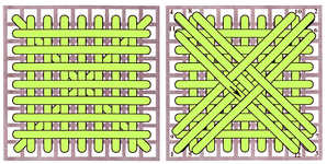 Pillow stitch - click to enlarge