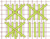 Pineapple stitch - click to enlarge
