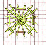 Pin-Wheel stitch - click to enlarge