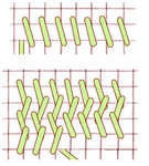 Plaited Gobelin stitch - click to enlarge