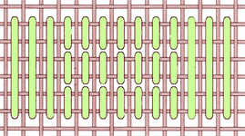Reed stitch - click to enlarge