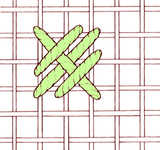Simplified rice stitch - click to enlarge