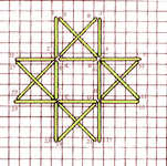 Star rosette stitch - click to enlarge