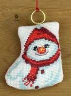 Snowman Stocking Ornament - click for larger image