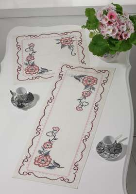 Flower Table Mat Square - click for larger image