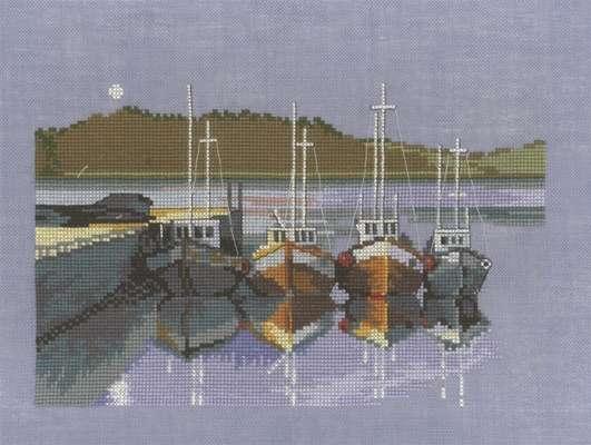 Moonlit boats - click for larger image