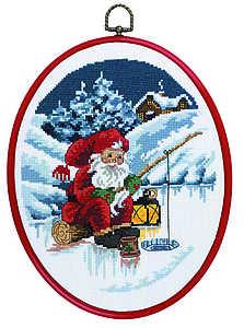 Santa fishing - click for larger image