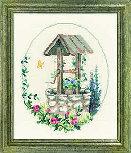 Oval garden wishing well - click for larger image