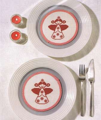 Nordic Angel Table Mats - click for larger image