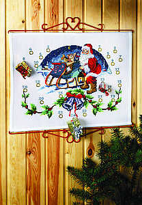 Santa and his Sleigh Advent Calendar - click for larger image