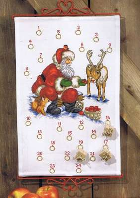 Santa Claus and Reindeer Advent Calendar - click for larger image