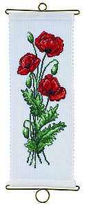 Poppy bell pull - click for larger image