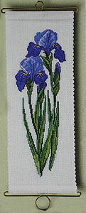 Iris bell pull - click for larger image