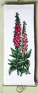 Foxglove bell pull - click for larger image