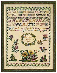 Karoline Marca 1819 sampler - click for larger image