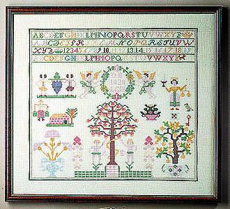 Altes Land 1828 sampler - click for larger image