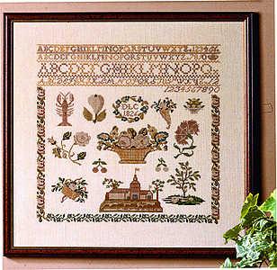 Biedermeier 1826 sampler - click for larger image
