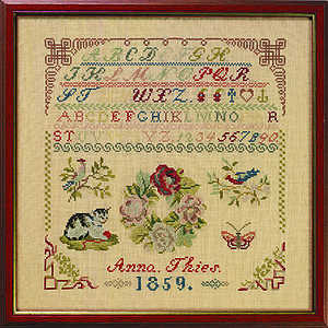 1859 Anna Theis Sampler - click for larger image