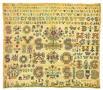 1791 Sampler - click for larger image