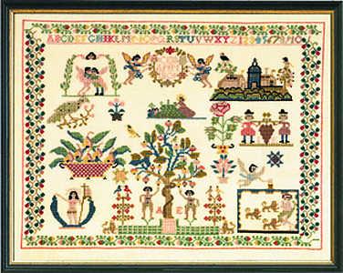 Daniel 1809 sampler - click for larger image