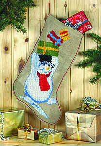 Snowman Christmas Stocking - click for larger image