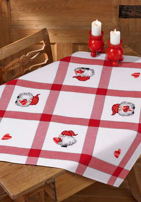 Little Santa Table Cloth - click for larger image