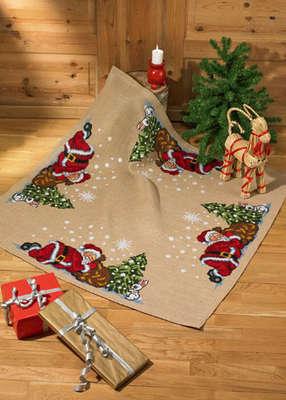Sleeping Santa Tree Skirt - click for larger image