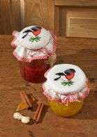 Bird Preserves Jar Covers - click for larger image