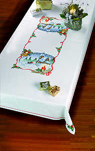 Christmas scene tablecover - click for larger image