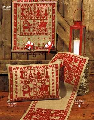 Christmas Spirit Table Runner - click for larger image