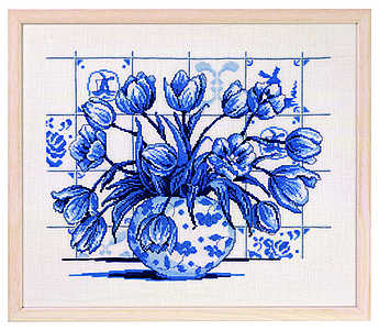 Dutch blue tile - click for larger image