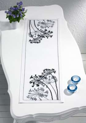 African Flower Table Runner - click for larger image