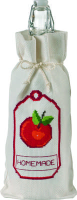 Apple Homemade Bottle Bag - click for larger image
