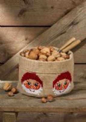 Santa Cloth Bowl - click for larger image
