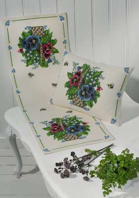 Pansies Cushion - click for larger image